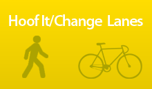 pedestrian and bike